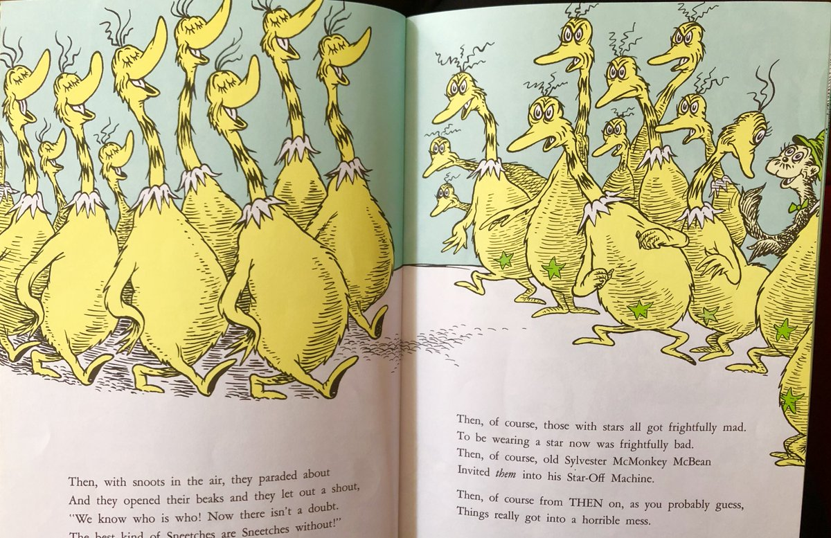 """Ami Williamson on Twitter: """"Racism - Dr Seuss dealt with the 'them and us'  conflict in 1961 with The Sneetches! Those with stars, and those without.  2018 shame.… https://t.co/LfSOFoR2Um"""""""