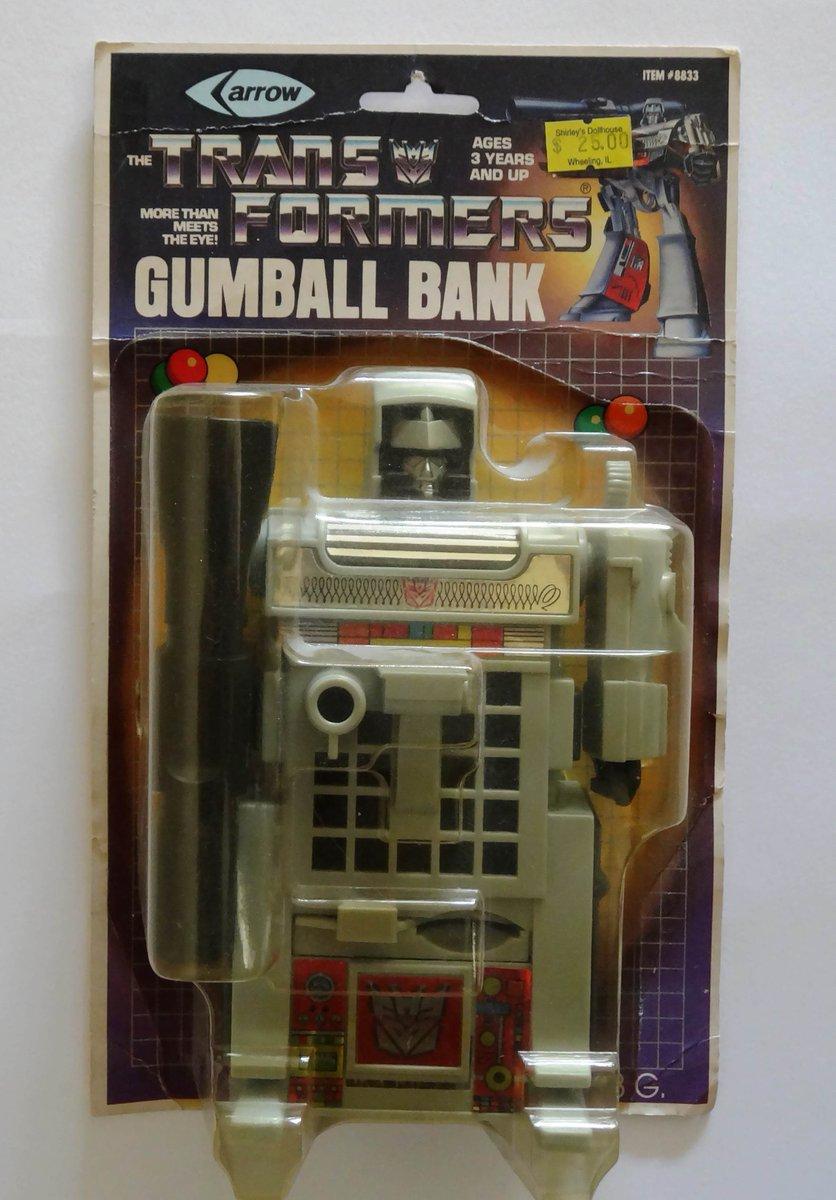 Megatron Gumball Bank, Arrow Toys. 1985. #megatron  #g1transformers #transformers
