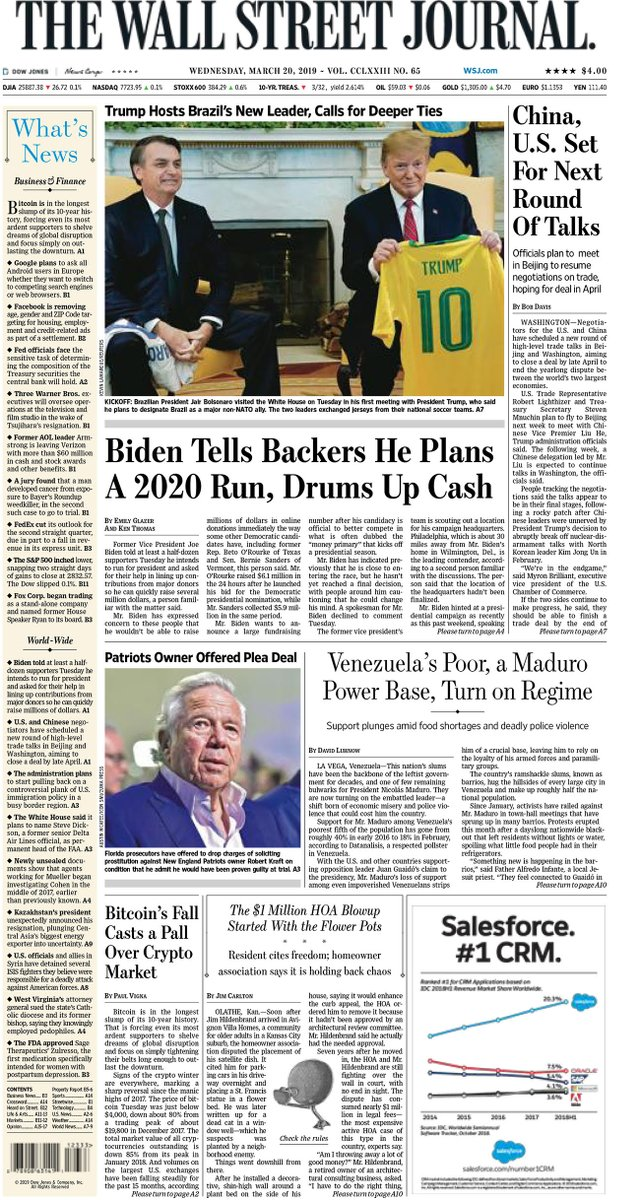 Take an early look at the front page of The Wall Street Journal http://wsj.com
