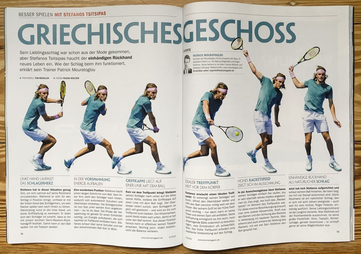 Greak weapon by @StefTsitsipas for @tennismagazin during @AustralianOpen @pmouratoglou #tennis #sport<br>http://pic.twitter.com/wnioQQDrhh
