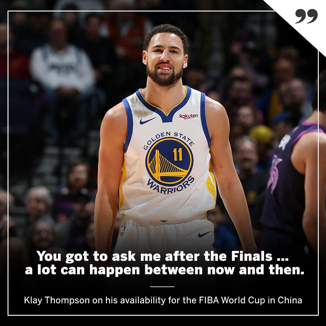 Klay is keeping his schedule clear just in case ... https://t.co/t4R2Zlr3l5