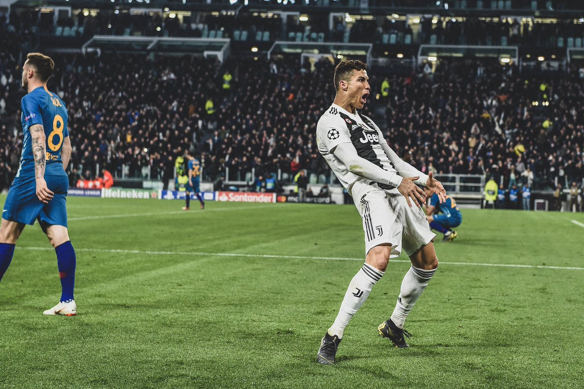 Last week, Cristiano Ronaldo  became the first Juventus player in this century to score a UCL hattrick in the Knock-Out Stages. <br>http://pic.twitter.com/x6ObtryKPP