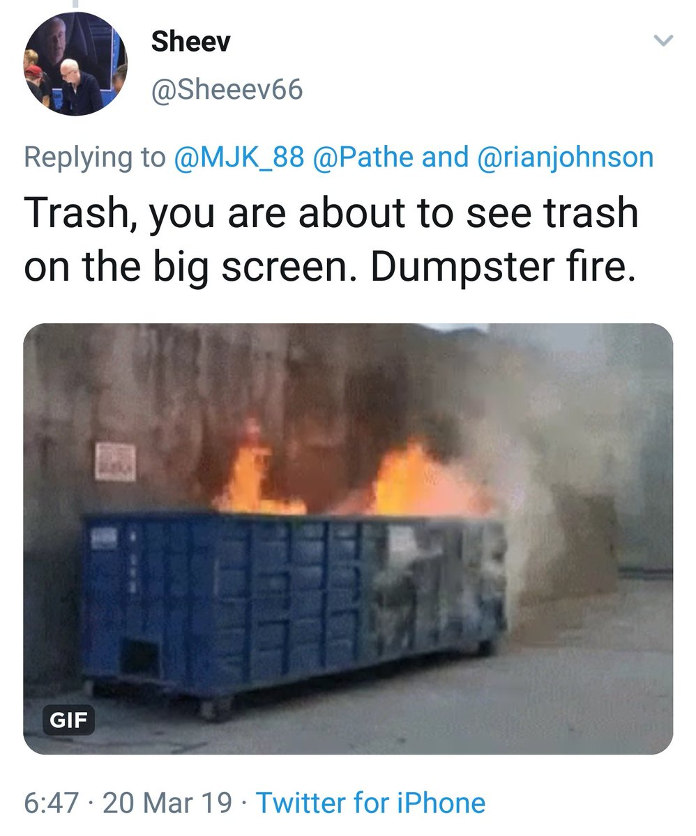 It&#39;s ridiculous these replies still happen when you mention #TheLastJedi in a tweet. Get a fucking life, troll. <br>http://pic.twitter.com/1WF6EiItwe