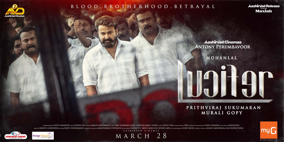 #Lucifer trailer from 09.00 PM IST today!