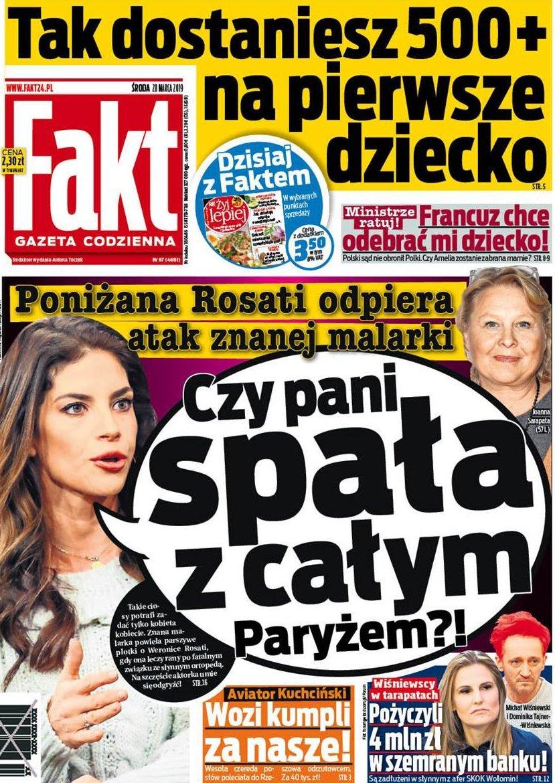 #DziśwFakcie: #Rosati musi ciągle odpierać ataki https://www.fakt.pl/kobieta/plotki/weronika-rosati-musi-ciagle-odpierac-ataki/45gf6ed…