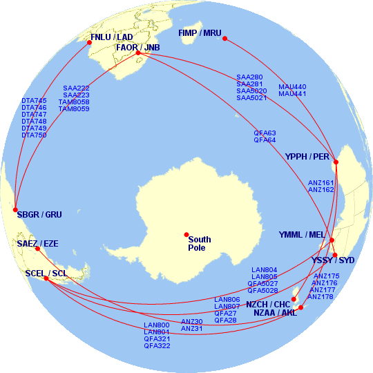 Great Circle Mapper(@gcmap) 님   트위터