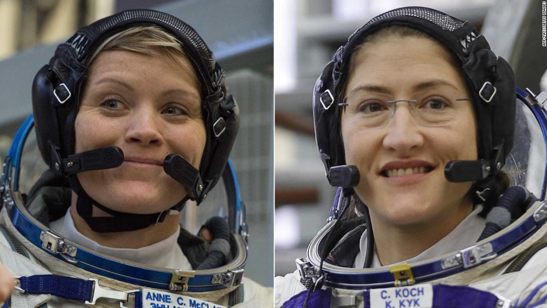 2 astronauts are scheduled for the first all-female spacewalk in history #InternationalWomensDay #IWD19  https:// edition.cnn.com/2019/03/06/us/ nasa-first-all-female-spacewalk-trnd/index.html &nbsp; … <br>http://pic.twitter.com/4xUBupGCzQ