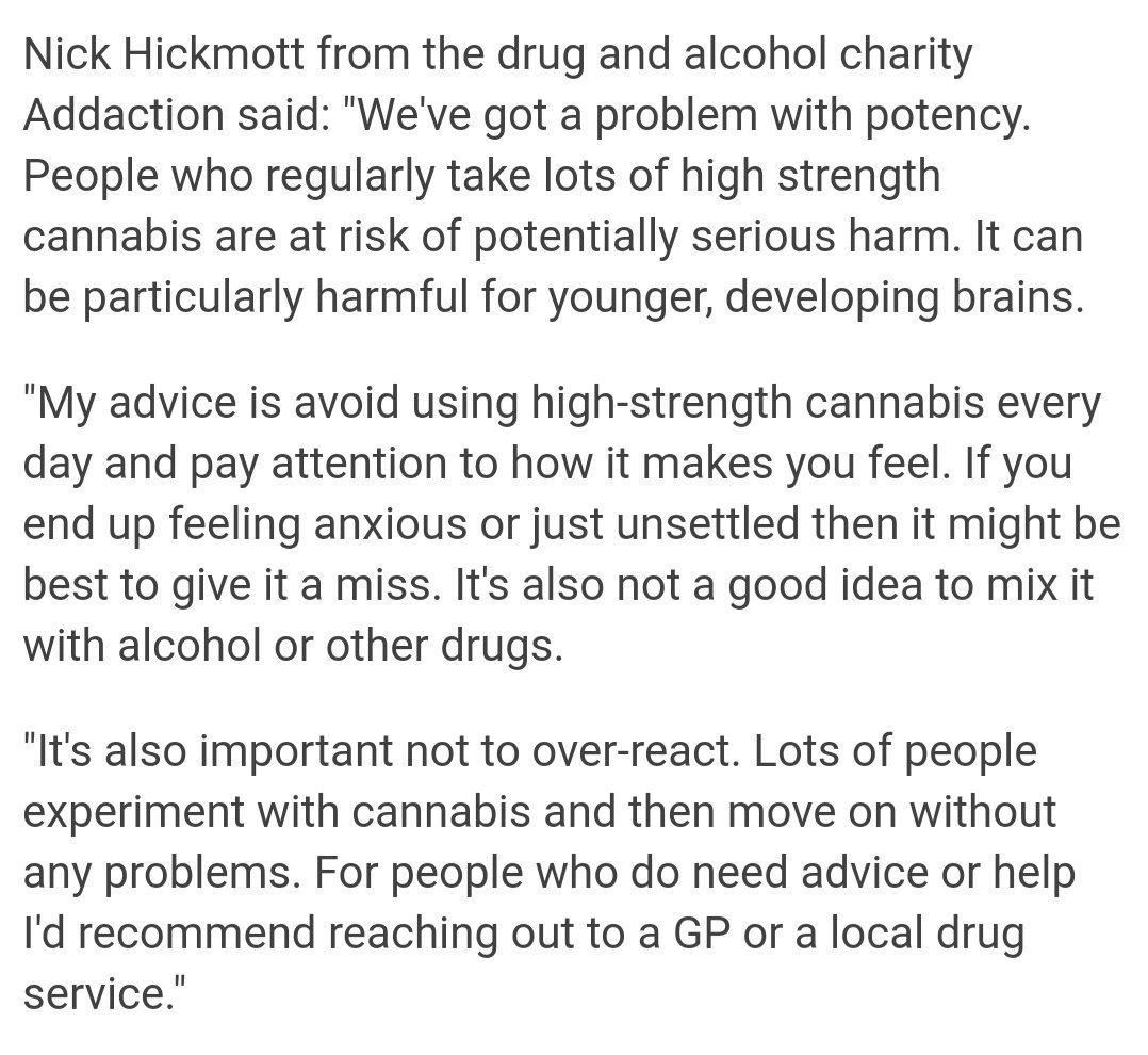 Our Team Leader @NickHickmott in @BBCNews on today's Lancet cannabis study: bbc.co.uk/news/health-47…