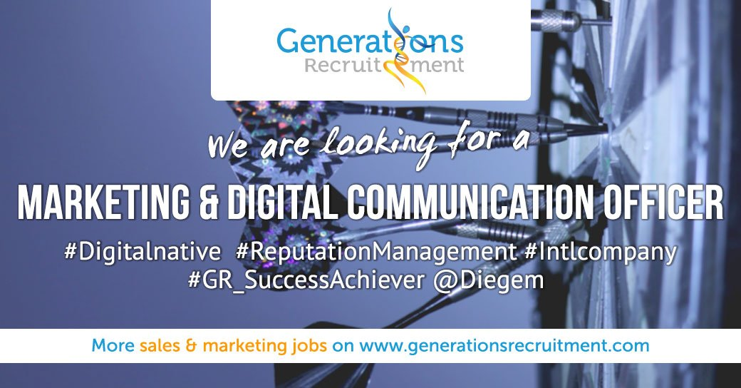 RT @GR_Brussels: We are looking for a MARKETING & DIGITAL COMMUNICATION OFFICER  Apply now ! https://bit.ly/2X1qp3g  #digitalnatives #english #reputationmanagement #branding #intlcompany #gr_successachiever #diegem #marketing #communication #digitalmar…pic.twitter.com/0YPnTvS00L