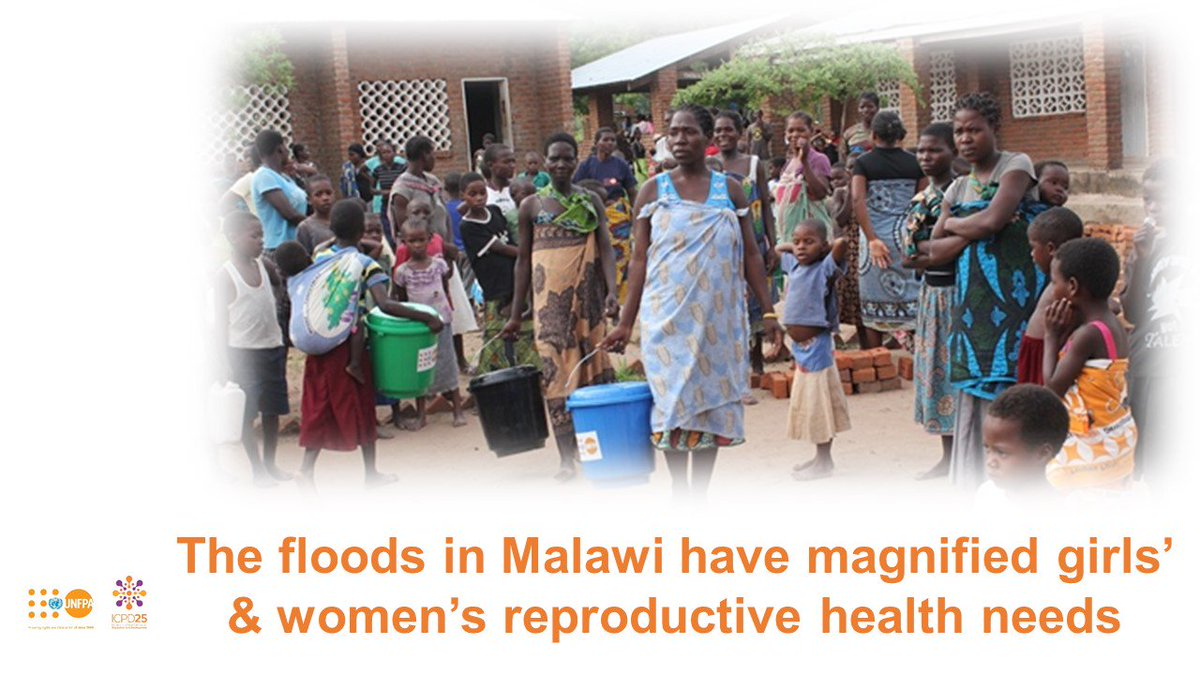 The floods in #Malawi challenge us all to succeed in delivering even in the most difficult contexts. @UNFPA  we believe when we do this, women & girls are safer & healthier