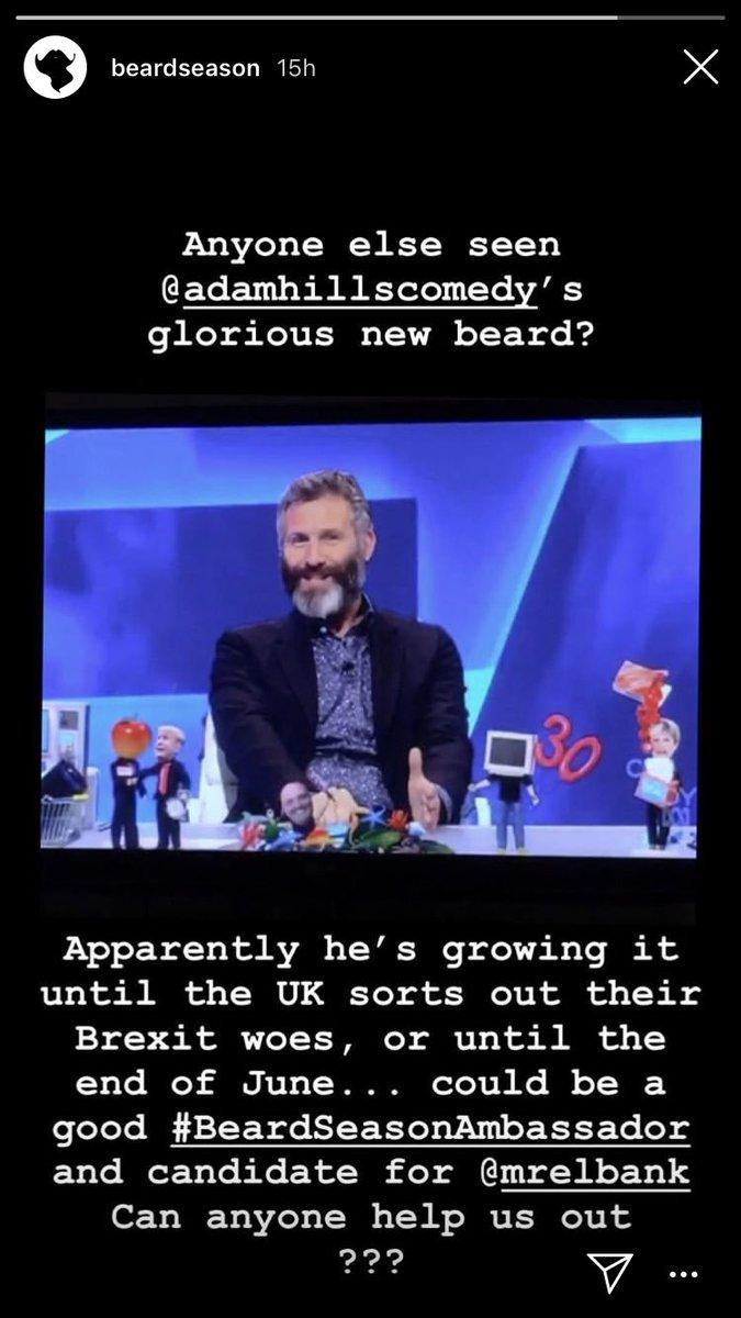 Hey @TheLastLeg #IsItOkay that @adamhillscomedy has been asked to be a #BeardSeasonAmbassador because of his glorious beard?<br>http://pic.twitter.com/rVlYBEb639