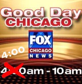 Good Morning Everyone! Start Your Day With Good Day Chicago For All Your News Weather & Traffic From 4-10am On Your #1 News Station In Chicago 🖥💻📱📺👀👇🏽
