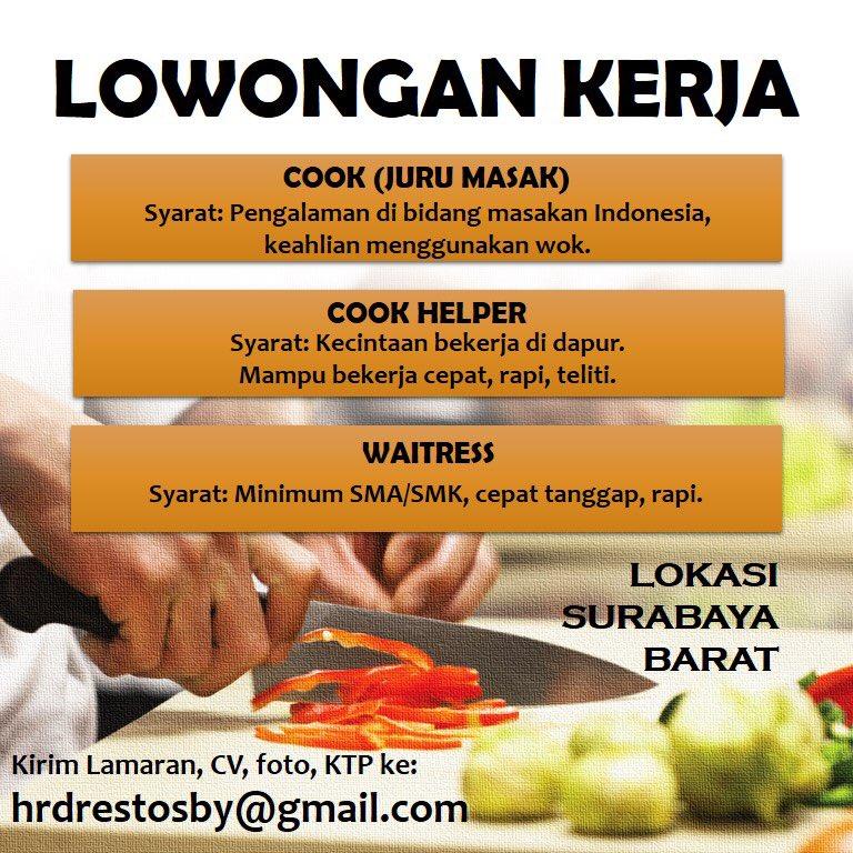 Info Loker Restoran Surabaya