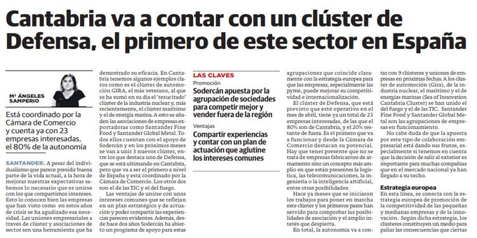 Cantabria va a contar con un clúster de Defensa, el primero de este sector...