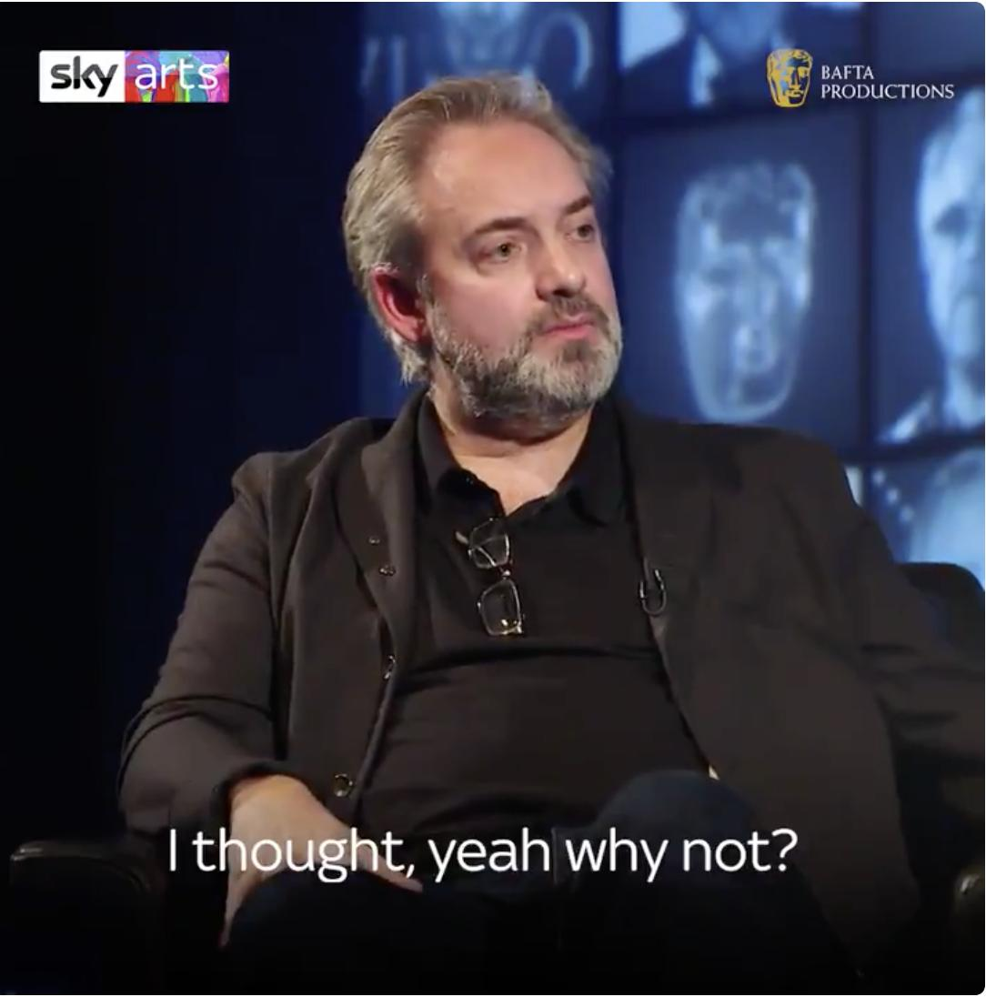 It's the final episode in our @BAFTA life in pictures series. #SamMendes reveals that it was a slightly boozy Daniel Craig who gave him the idea of directing @007 🎬🍺
