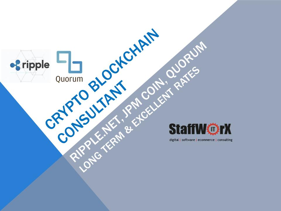 test Twitter Media - Crypto Blockchain Consultant, SME (JPM Quorum, Ripple XRP), contract to £1200 day - RippleNet, JPM Coin, Quorum or similar Crypto currency / blockchain settlement solution consultant #cryptocurrency #blockchain #Ripple https://t.co/ur8k97IBio