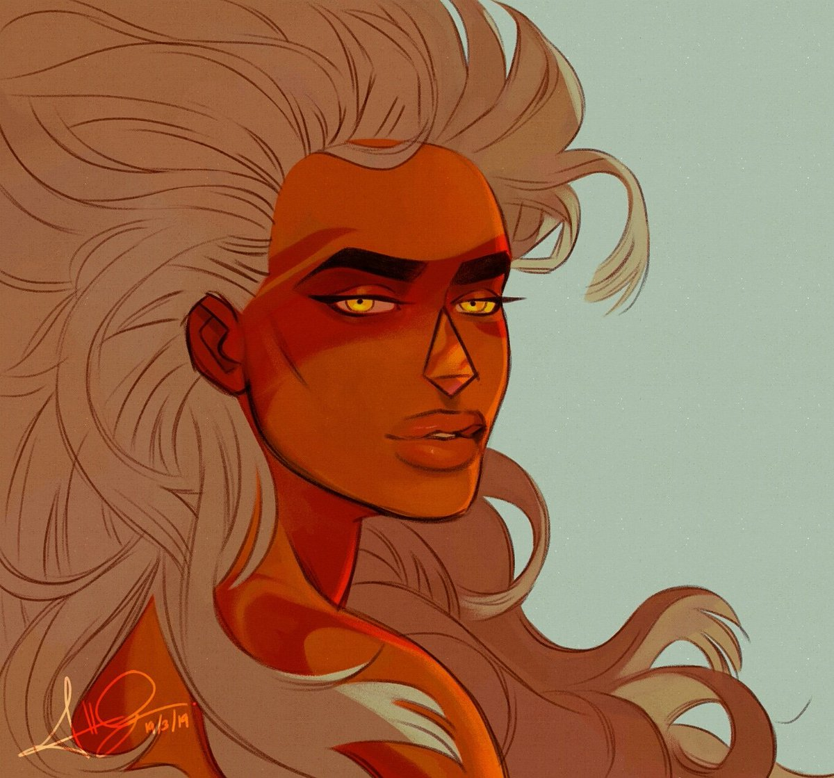 Redraw of an ol drawing of this queen~ #Jasper #StevenUniverse<br>http://pic.twitter.com/wB82idJF9Y