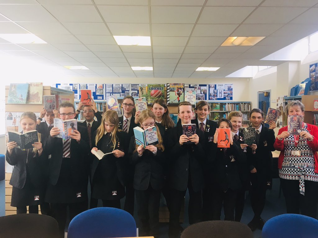 The LSHS Carnegie Shadowing Group 2019! Another year and another great shortlist to read and discuss! #CKG19 @CILIPCKG