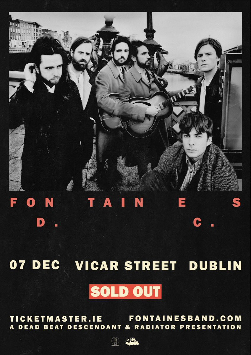 Our Vicar Street show on 7th Dec is now sold out. Thanks to everyone who bought tickets.  'Dogrel' is out on April 12th via @partisanrecords