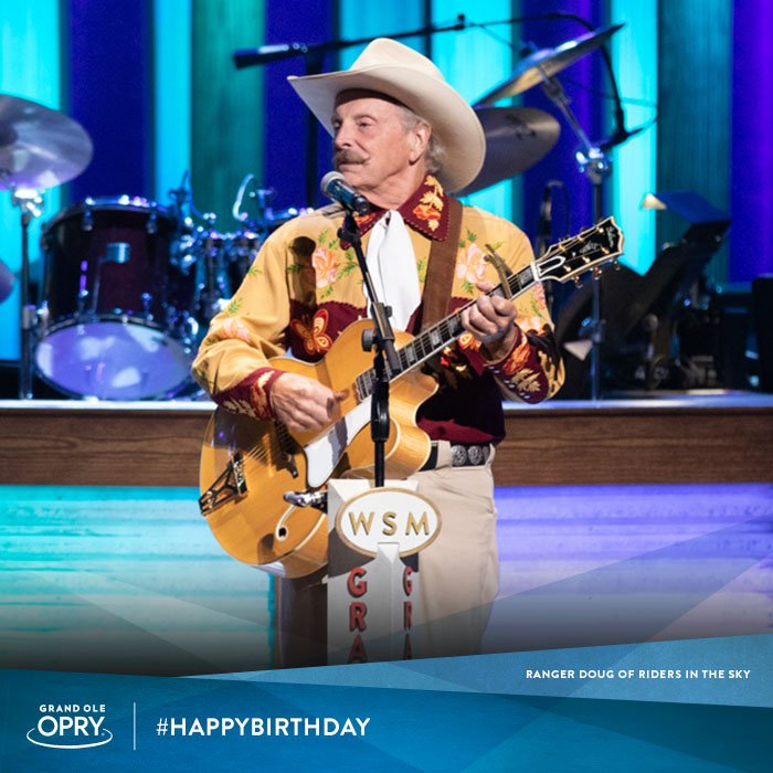 #HappyBirthday to the &quot;Governor of the Great State of Rhythm,&quot; Ranger Doug of #OpryMember group @HarmonyRanch! <br>http://pic.twitter.com/jECDqJxqg1