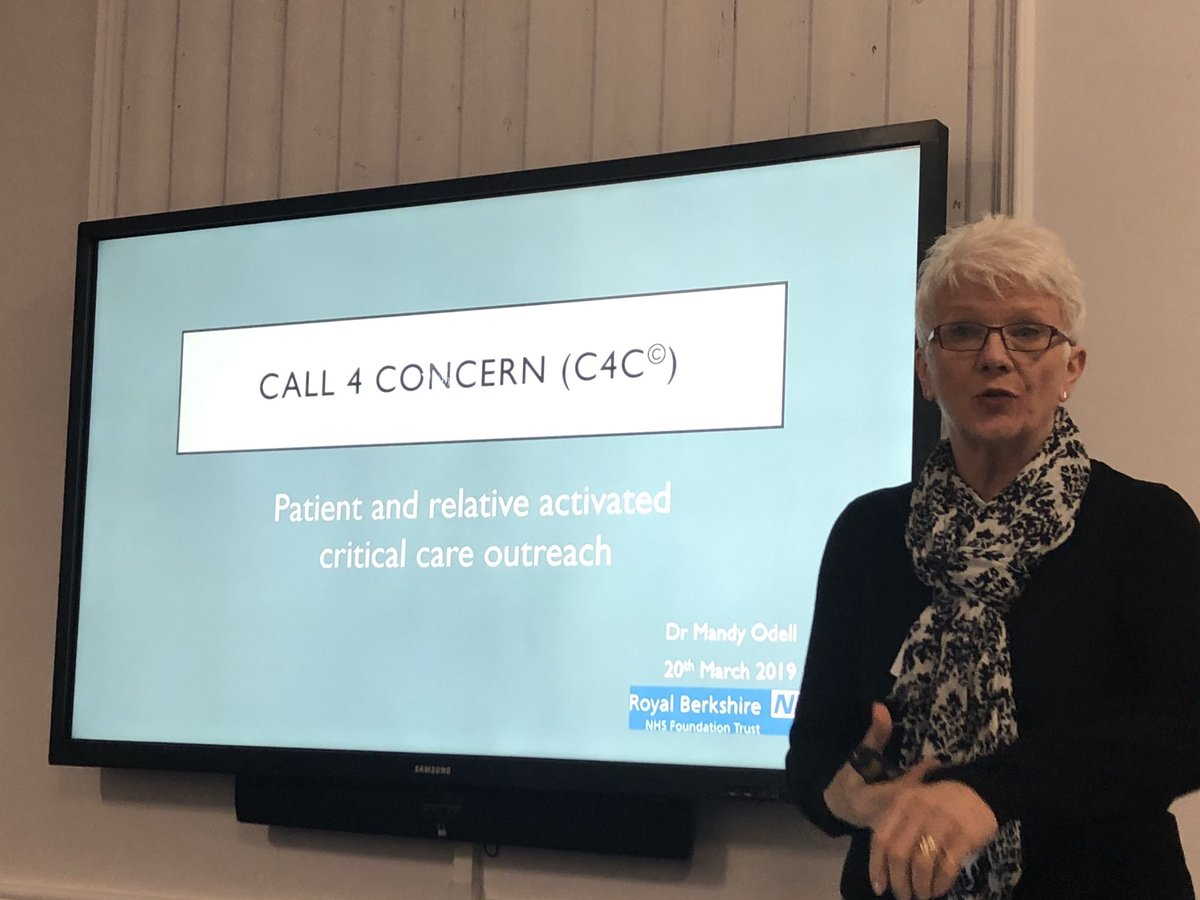 Managing deterioration and valuing the intuition of patients and their loved ones, by empowering them to call critical care outreach. @mandy_odell speaking on her success and drive on this service. Coming soon to our Princess Royal site @BSUH_NHS @BSUH_icu watch this space.....<br>http://pic.twitter.com/Sr7uH6vSst