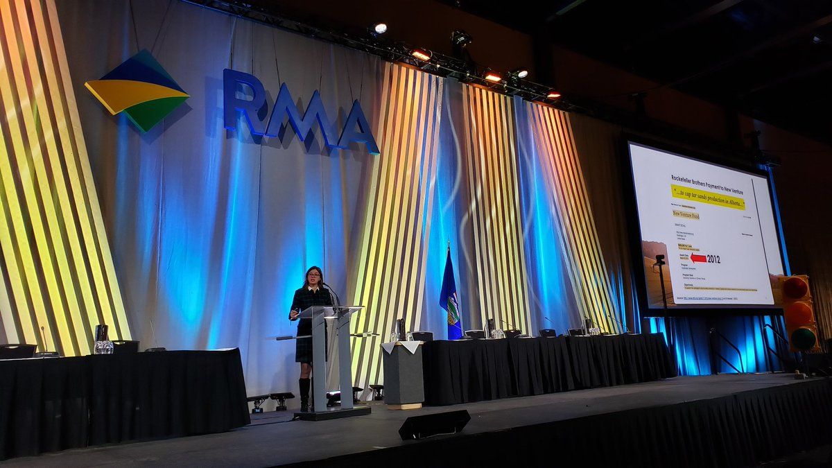 Welcome to Vivian Krause @FairQuestions as our keynote speaker this morning! #RMAlberta
