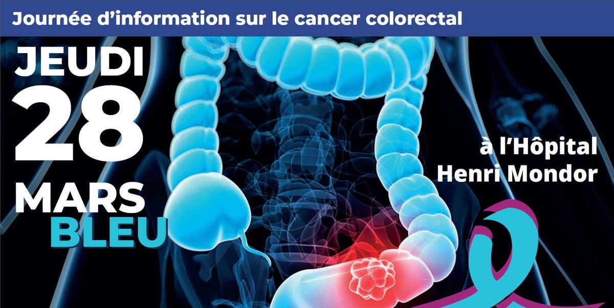 J-8 avant Mars bleu Journée d'information sur le cancer colorectal http://chu-mondor.aphp.fr/journee-de-depistage-cancer-colorectal/…