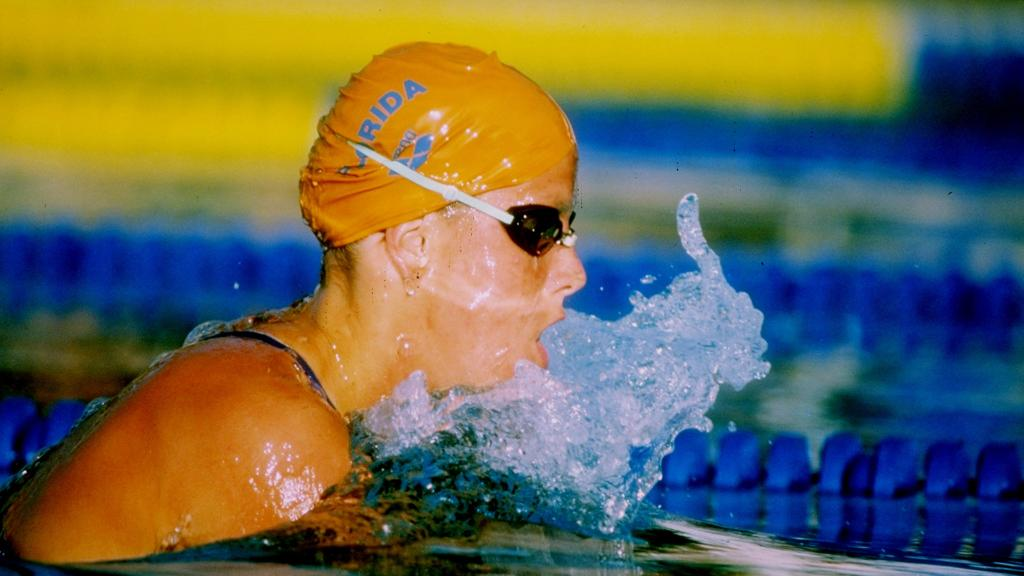 A phenom at @GatorsSwimDv, Tracy Caulkins dominated all four strokes during her college swimming career and left the NCAA record book in her wake: http://on.ncaa.com/2t8HJFE