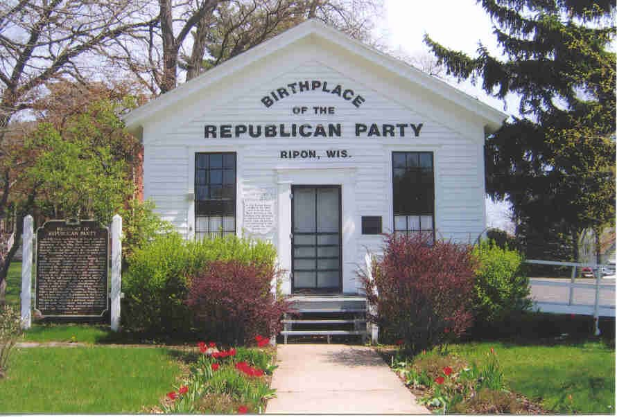 Happy Birthday to the Republican Party. The first meeting of the anti-slavery party was held on March 20, 1854 in Ripon, Wisconsin. <br>http://pic.twitter.com/4NexFAbGEN