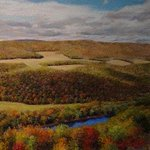 """For #WomensHistoryMonth and #NationalWestVirginiaDay check out Susan Poffenbarger's 1999 painting """"South Branch Bend"""" at the @IRS Martinsburg Computing Facility. https://t.co/9MRIFkp6VQ #5WomenArtists #FedBldgFridays @US_GSAR3"""