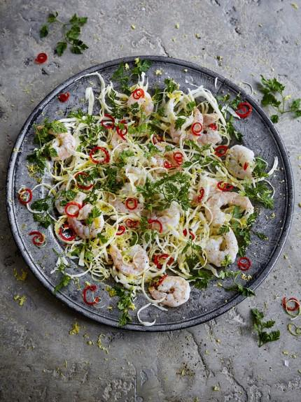 Prawn salad with chilli and white cabbage #seafood #dinnerparty #glutenfree #dairyfree #seasonal #recipe  http:// bit.ly/2Ditowt  &nbsp;  <br>http://pic.twitter.com/kgvlIy4h6d