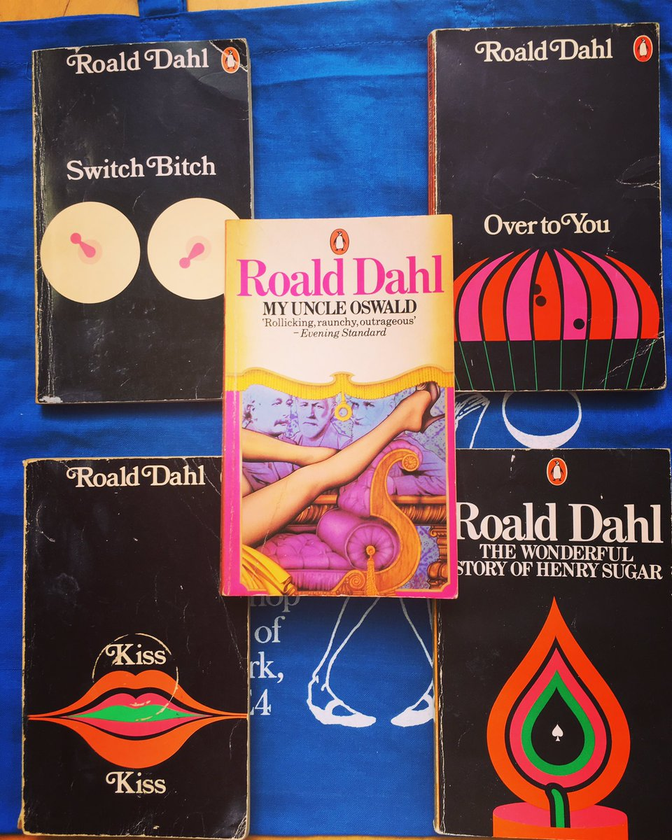 Roald Dahl (adult) Wednesday  Open til 6pm today.  Can you name any of the cover illustrator's?  #usedbookstore #roalddahl #kisskiss #lewisham #se4<br>http://pic.twitter.com/ISLYCP8SuG