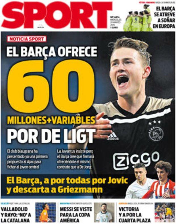 👋😄 ¡Hola!  🗞️ Así vienen las portadas de la prensa deportiva de hoy miércoles  📺 #Golazo