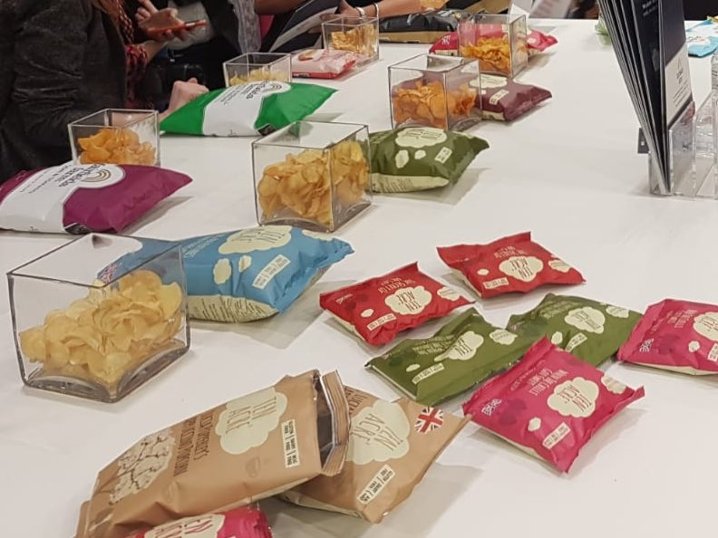 Last day @ife_event @excellondon we are hoping for another busy day. Please come and say hi to the team on stand N3202 #glutenfree #kosher #vegan #handcookedcrisps #popcorn #snacks #madewithlove #ife19 #excellondon