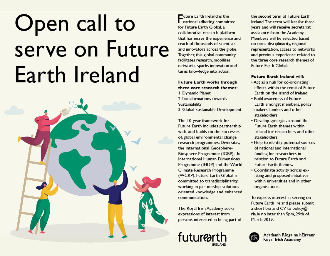 Open call to serve on Future Earth Ireland