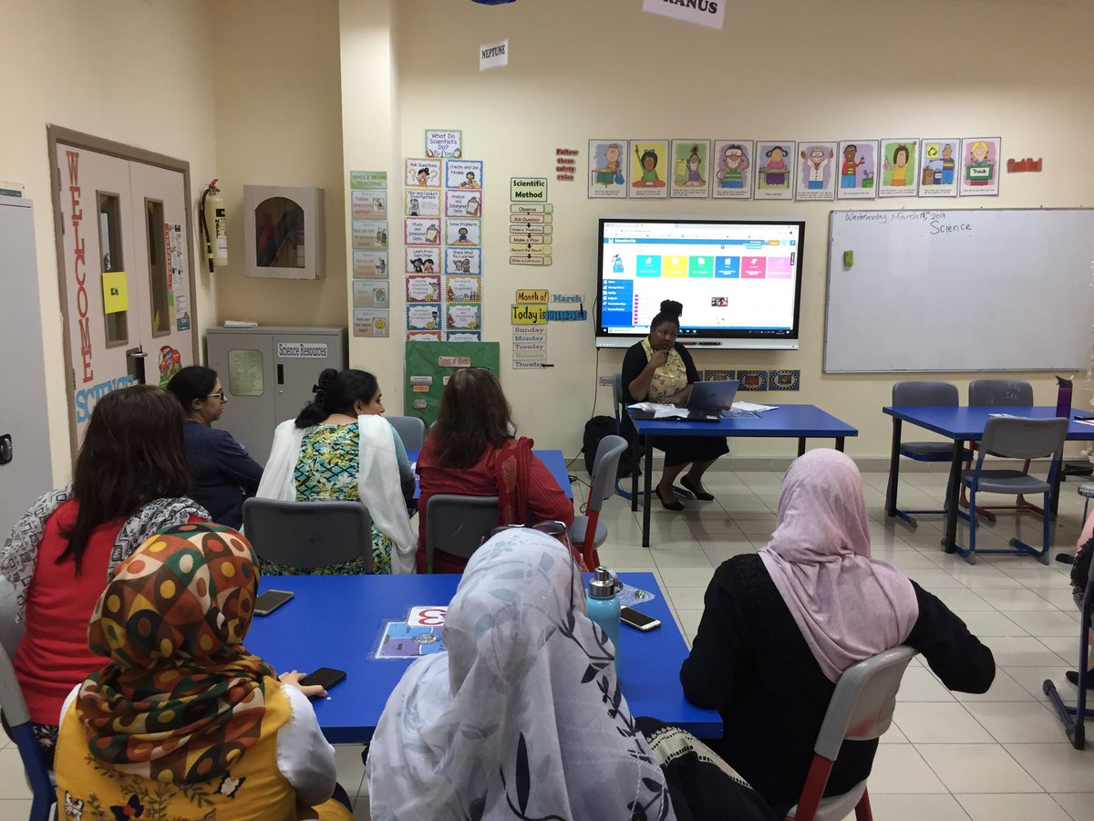We're back in the UAE and busy already!  Tash had a great time visiting @LiwaSchoolUAE yesterday training teachers on EducationCity.   Thank you for being great hosts - Tash loved meeting you all and supporting you!  #edchatmena #internationalteaching