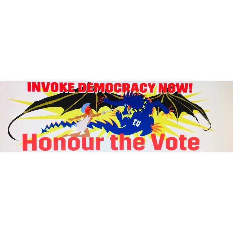 Banner for 29 March is off to the printers #invokedemocracynow #honourthevote #thefullbrexit #humanityisunderrated #sovereignty #democracy #marchtoleave #artistsforbrexit #LeaveMeansLeave <br>http://pic.twitter.com/pJdjaebgjr