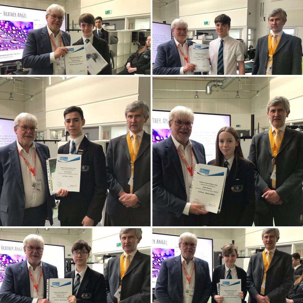 Well done to Katie Rowley, Andrew Richards, Jack Shipman, Emily Wedge and Sam Toyne who received prizes from Telford Rotary Club for their annual RotaryYoung Photographer Award! Good luck in the regional round!