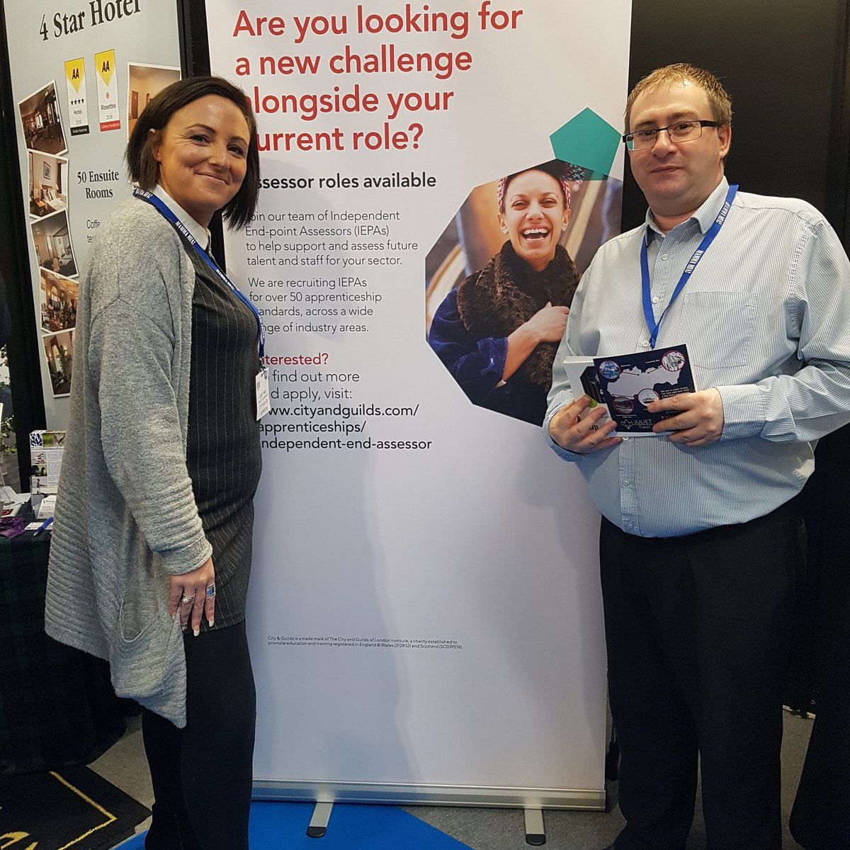 If your visiting the NEC Birmingham Travel and Tourism event pop to stand A3 and meet the City and Guilds team, we are recruiting for End Point Assessors in over 50 standards @CityGuildsGroup @cityandguilds