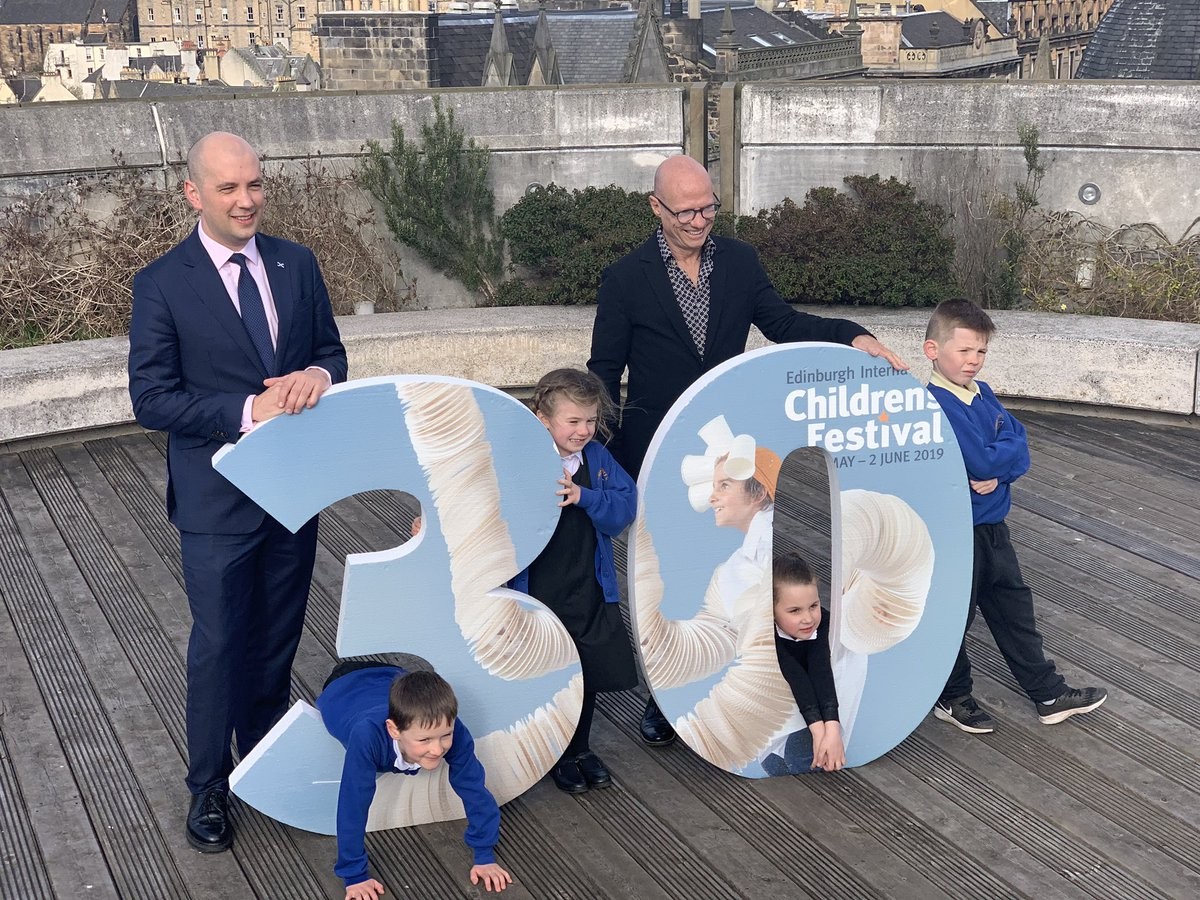 What an exciting morning for four of our children. Representing Brunstane at the launch of the 30th Children's Festival with @BenMacpherson and @ImaginateUK