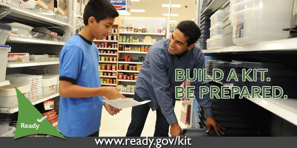 It's the first day of #Spring! #GetReady for the season by being prepared at home, at work and on the go. Here's a list 📝 to get started: http://www.ready.gov/kit