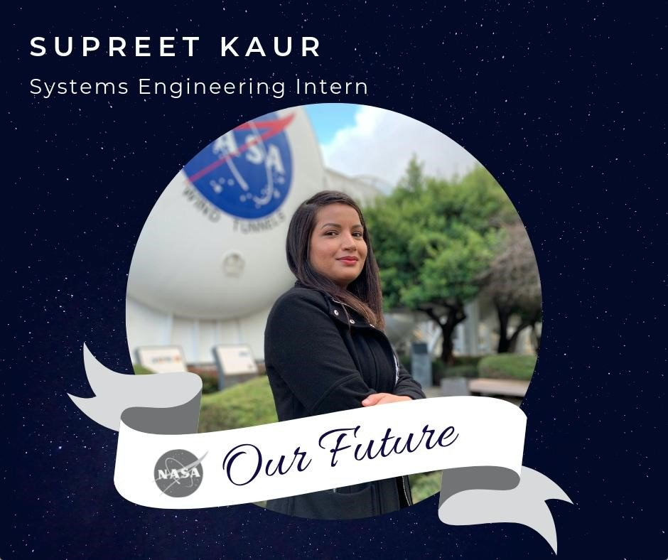 """I am the first woman in my family to choose an education and a career in STEM over what was expected of me."""" Supreet is currently interning at @NASAAmes. Read more about Supreets story below. #NASAinterns #WomenatNASA @WomenNASA blogs.nasa.gov/interns/2019/0…"""