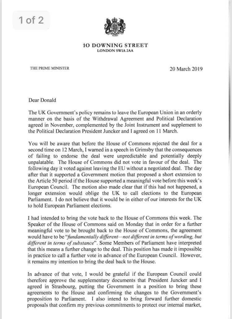 BREAKING: PM letter to @eucopresident