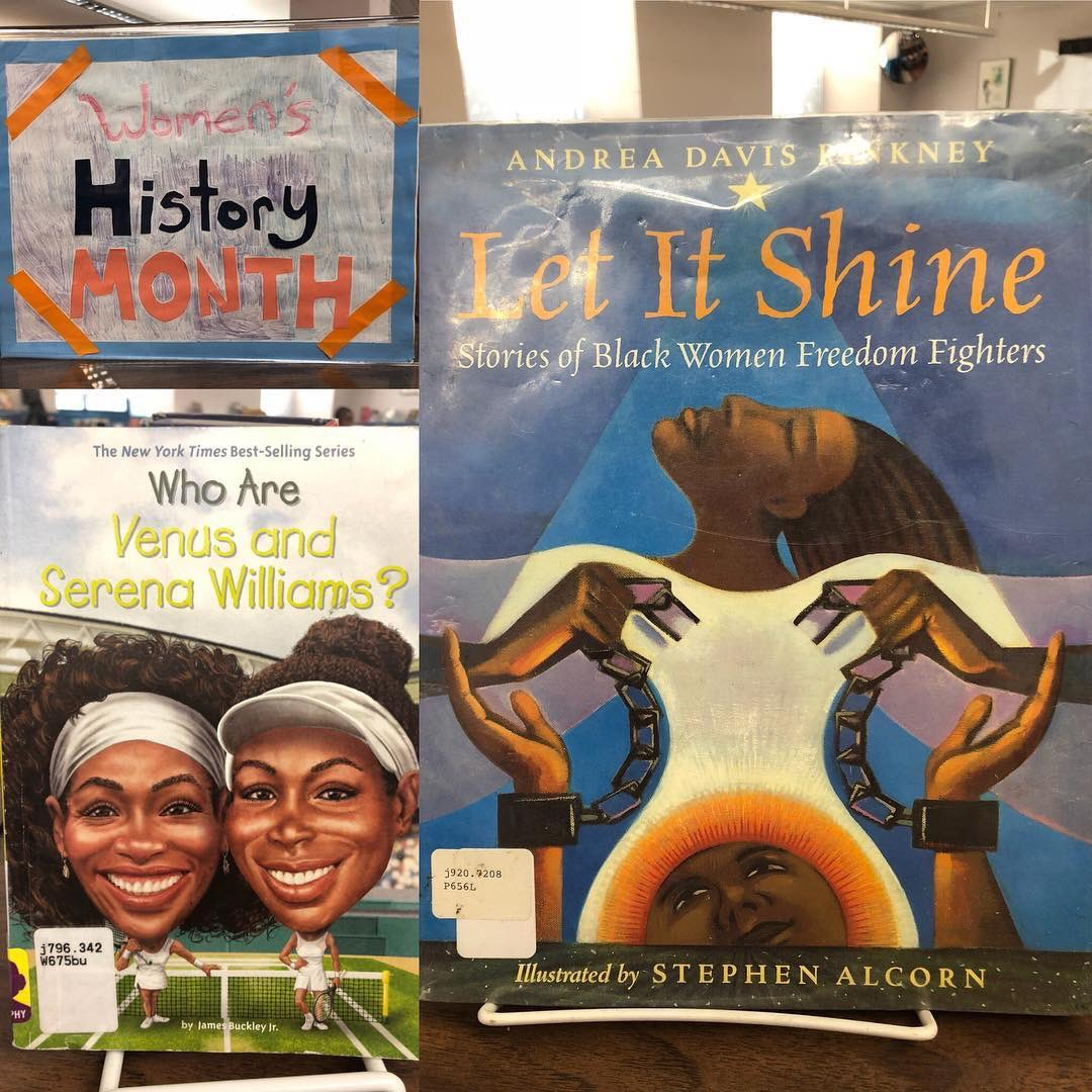 #womenshistorymonth is still going strong! Check out some books about #sheroes past and present. 📚#bookdisplay #nonfiction #librarydisplay #childrensbooks