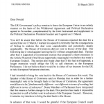 Image for the Tweet beginning: Read Theresa May's letter to