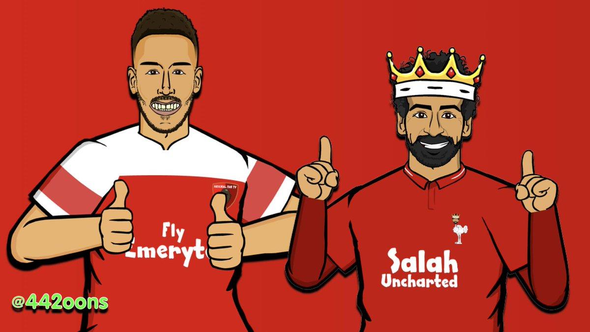 Who's scoring more PL goals this season?   🔁 for Auba ❤️ for Salah