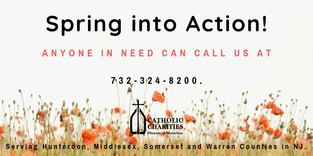 Spring into Action!  Anyone in need can call us for help at: 732-324-8200.  Serving #hunterdon #middlesex #somerset & #warren counties in NJ. https://www.ccdom.org/  #help @#hope