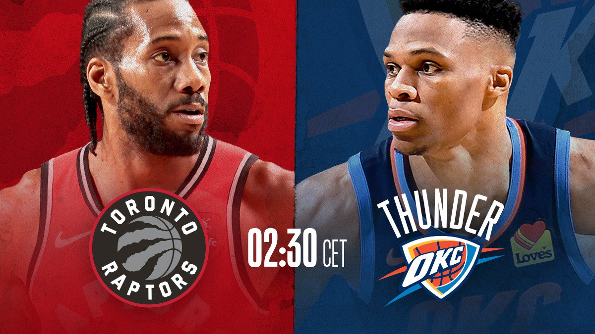 Marquee Matchups heute Nacht:   #HereTheyCome vs #CUsRise (LIVE bei @DAZN_DE)  #ThunderUp vs #WeTheNorth  💻📱 https://on.nba.com/2ECFVwE