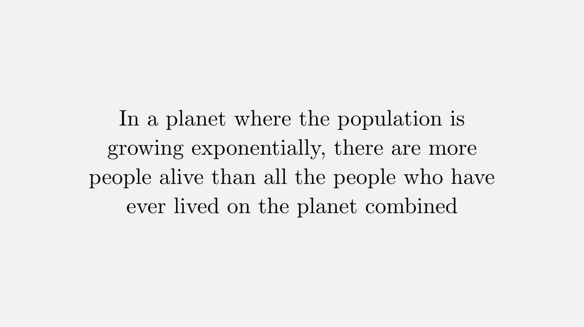 Here's a curious fact about exponential growth