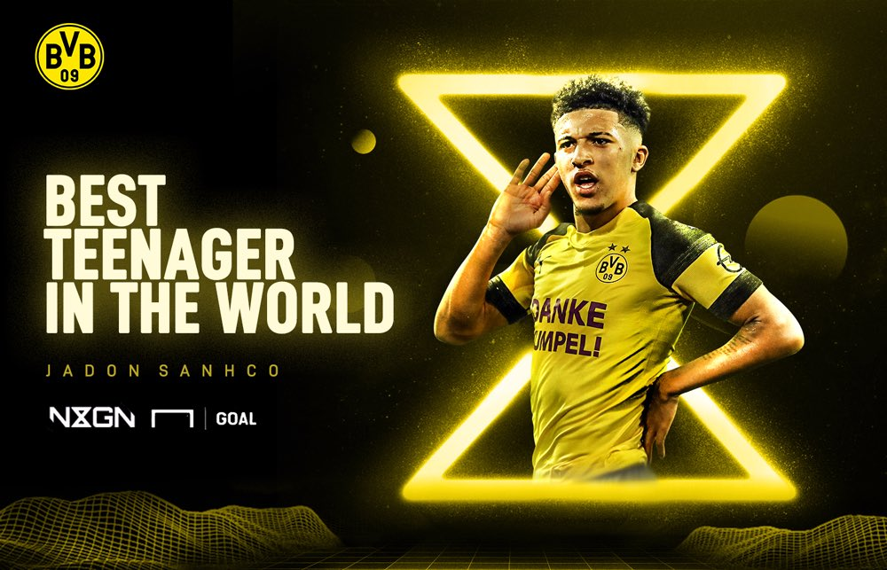 Congrats to our very own @Sanchooo10, who was just named the world's best teenager in Goal's #NxGn 2019 awards! ⚡️